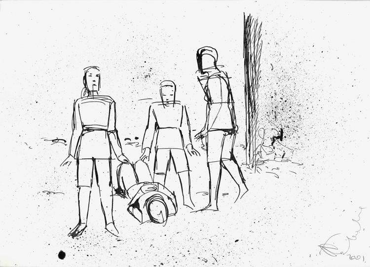 Line drawing, study #6 21x29 cm - Image 0