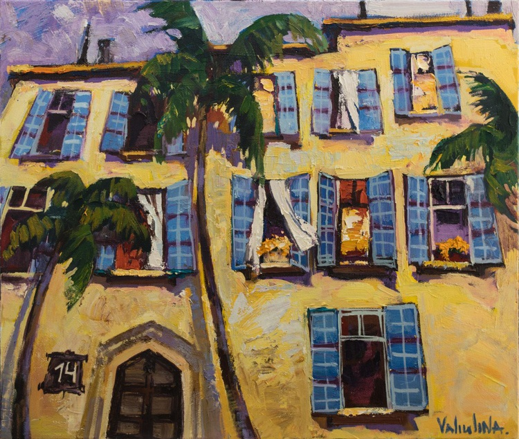 The old building in Jaffa Original oil painting - Image 0