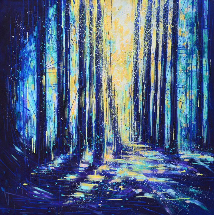 Moonlight through forest - Image 0