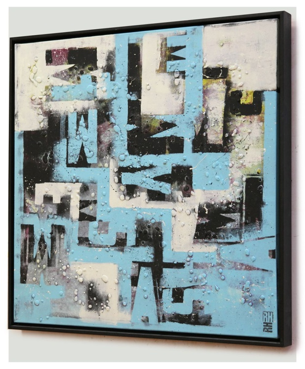 TypoPop on Canvas in black and blue - 327 - Image 0