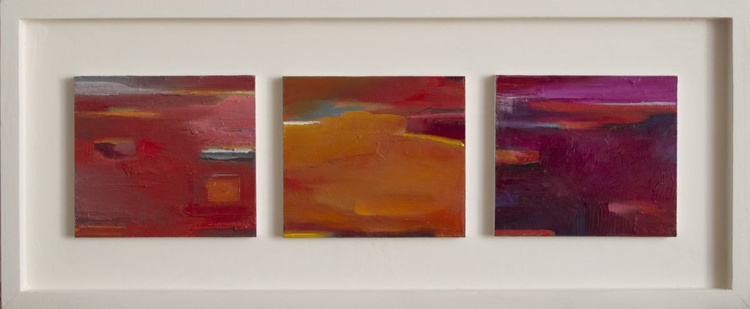 Triptych Abstract Miniature - Commission for Urbain Bruyere - Image 0