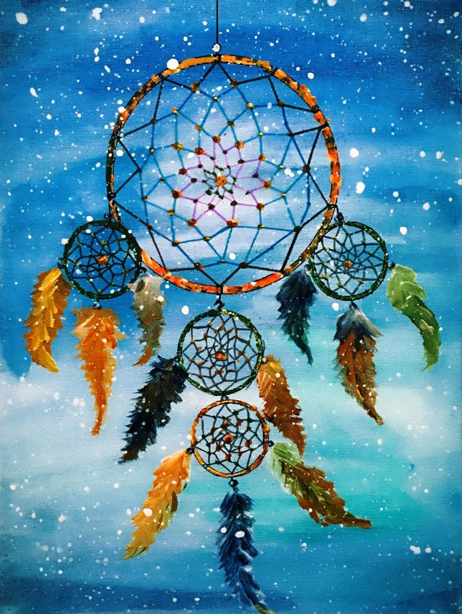 Acrylic Paintings Of Dream Catchers