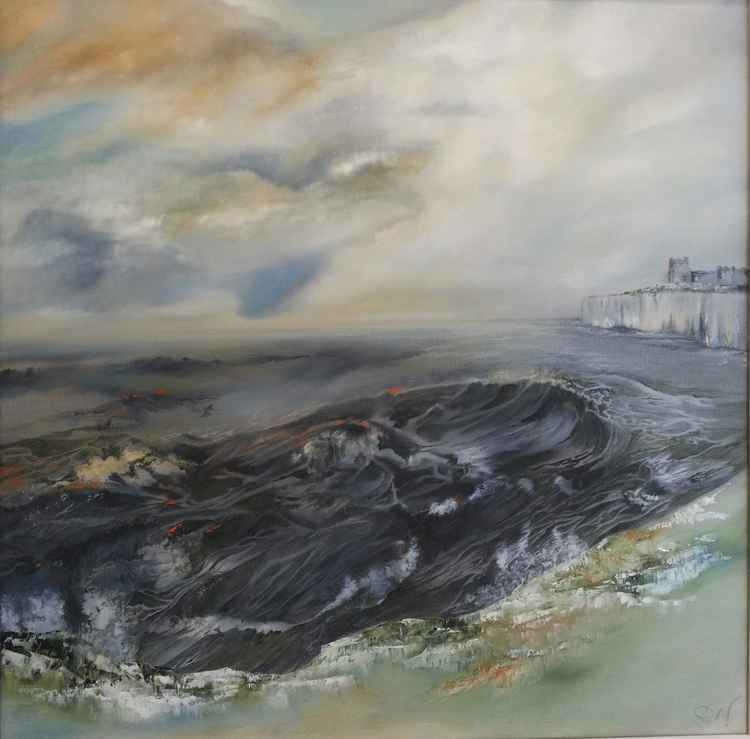 Storm Over Kingsgate - Kent (large canvas)