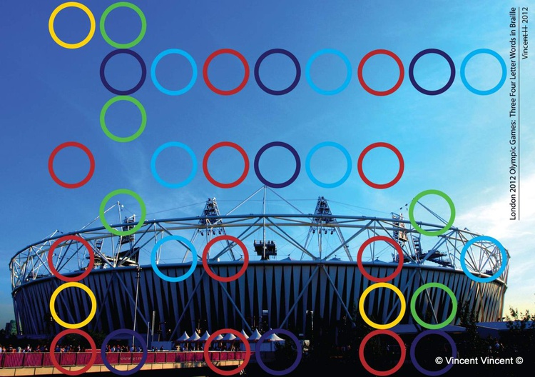 London 2012 Olympic Games: Three Four Letter Words in Braille - Image 0