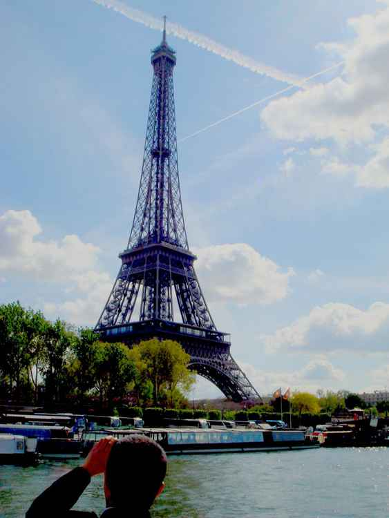 Eiffel Tower - Crossing the sky. -