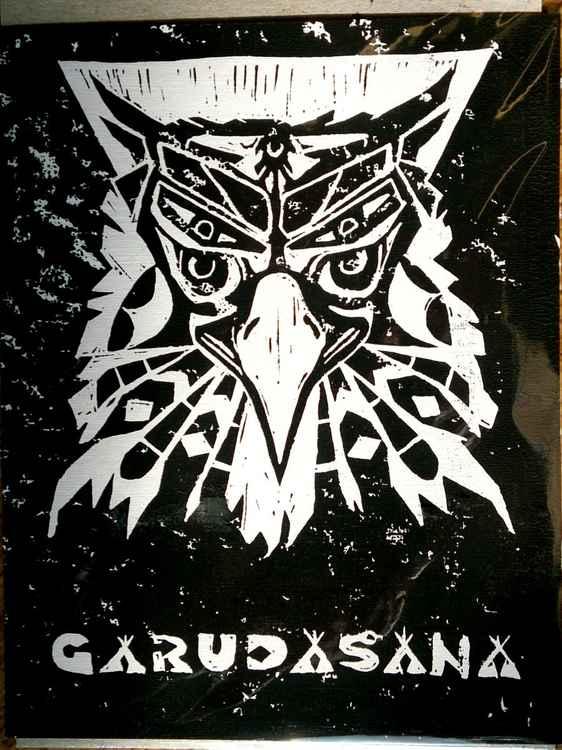 Garudasana Limited Edition, Lino Cut Print, A5