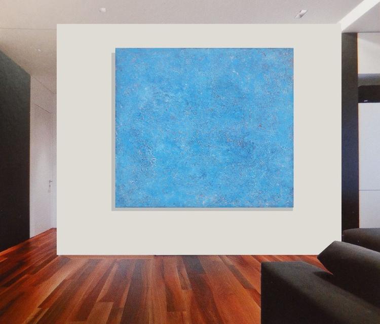 """Original abstract """"La mer"""" original painting -FREE SHIPPING - Image 0"""