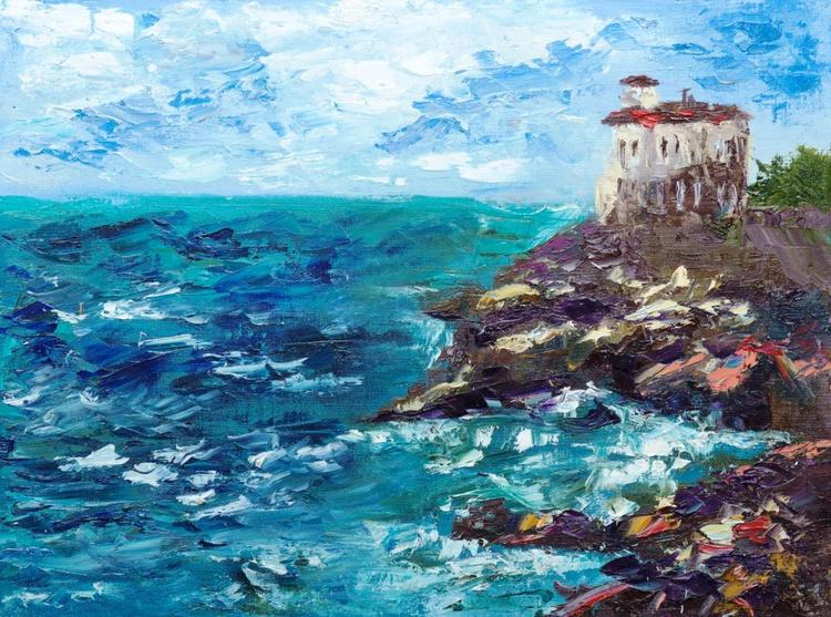 Castel boccale, seascape, sea, ocean, Italy, italian, plein-air - Image 0