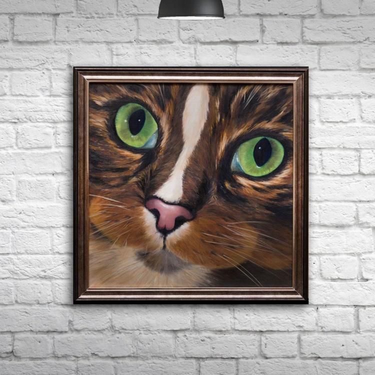 Original artwork Cat, Portrait, Tomcat - Image 0