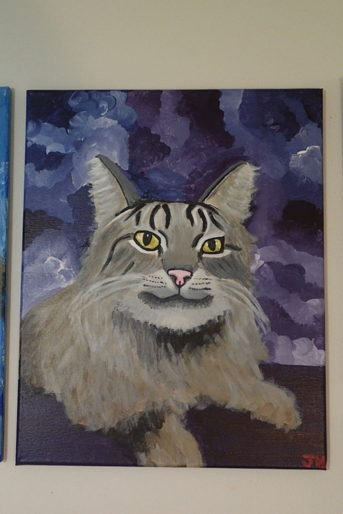 """Commisioned Acrylic Painting for your """"Pet Portrait"""" on 16 x 20 Stretched Canvas by Artist Jennifer Harris - Image 0"""