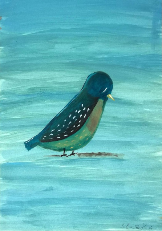 Bird - oil on paper - Image 0