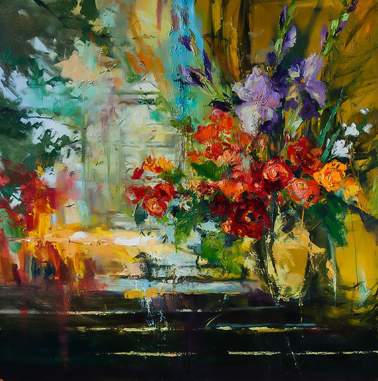 'Bouquet of flowers at the window' - Image 0