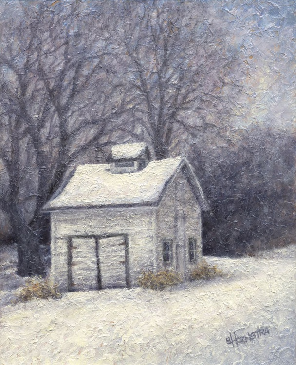 White Shed in Winter - Side - Image 0