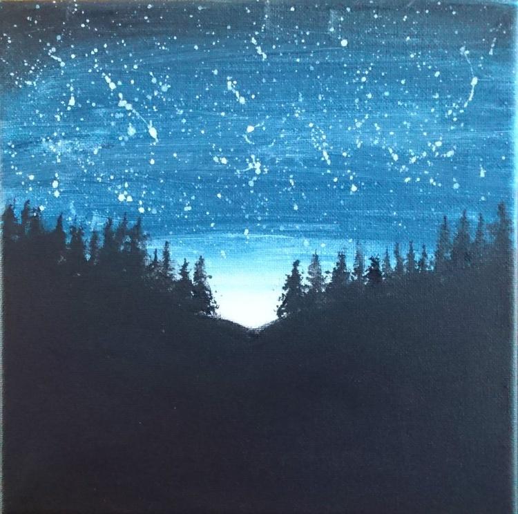 Night sky before dawn - Image 0
