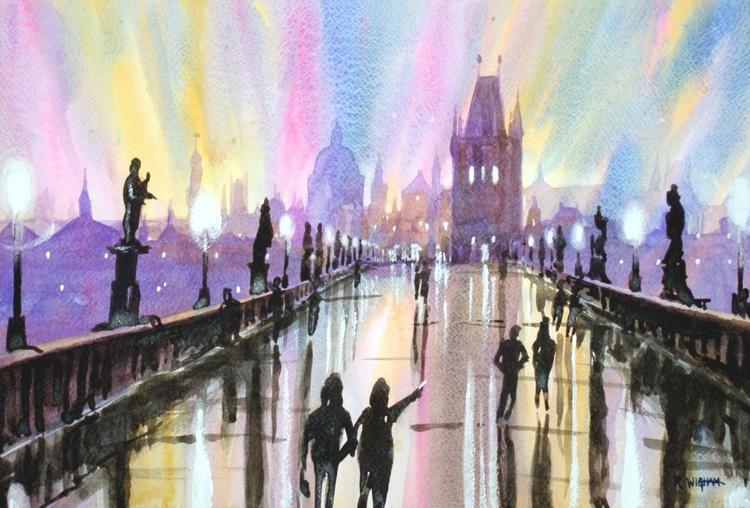 Evening on St Charles' Bridge, Prague - Image 0