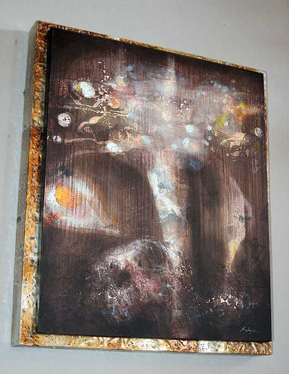 Kafkian eternity with flowers at 7 pm series Eternity signed 25.01.2015 - Image 0