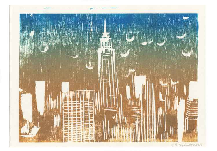 New York Skyline -An abstract form that present a city I live. -