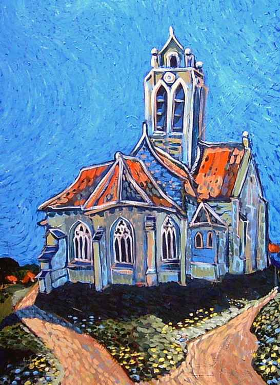 VAN GOGH'S CHURCH AT AUVERS -