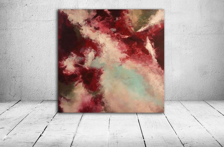 abstract (textured acrylic painting) - Image 0
