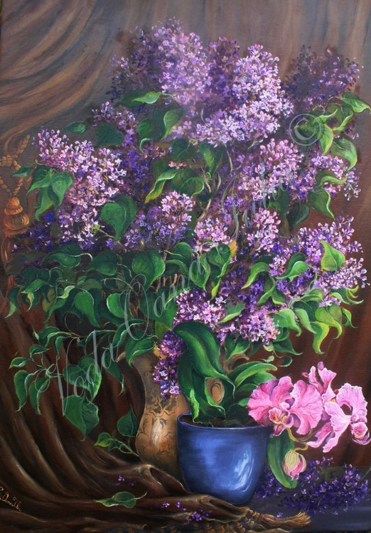 Lilac with orchid - Image 0