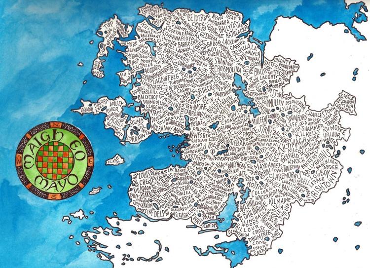 County Mayo Word Map - Image 0