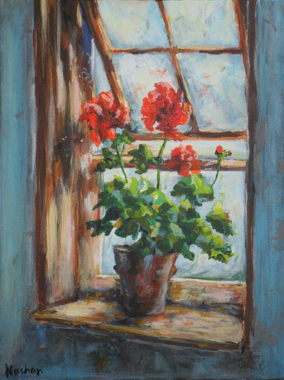 Flowers on the window sill - Image 0