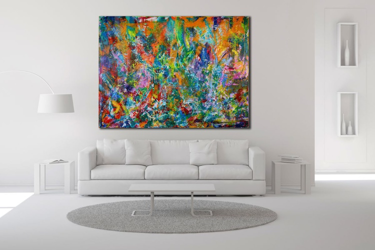 The rebel retreat-Dreamy Abstract - DEEP EDGE READY TO HANG - Image 0