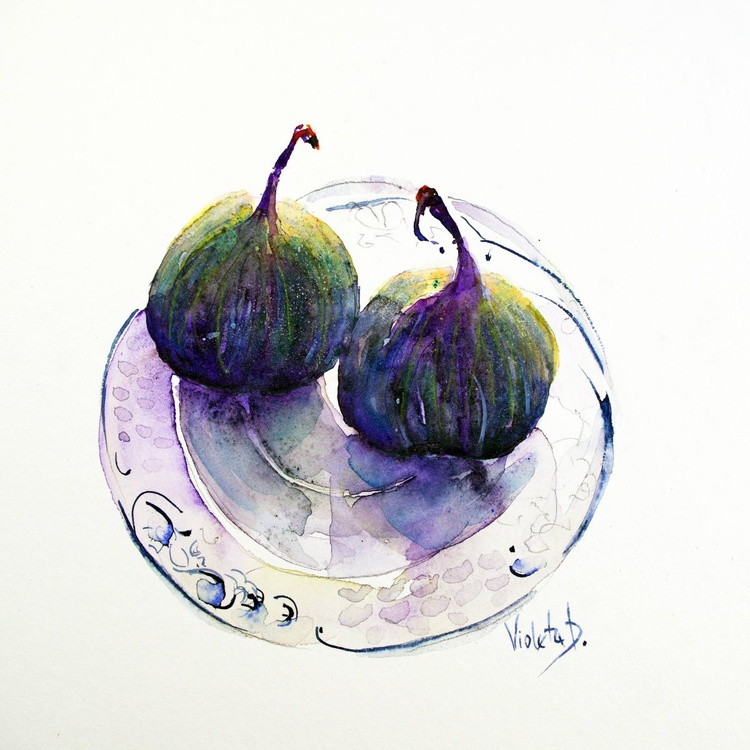 Figs on a Villeroy and Boch Cake Plate - Image 0