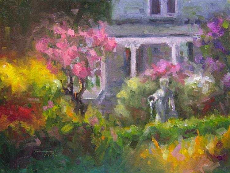 The Guardian - Plein air lilac garden - Image 0