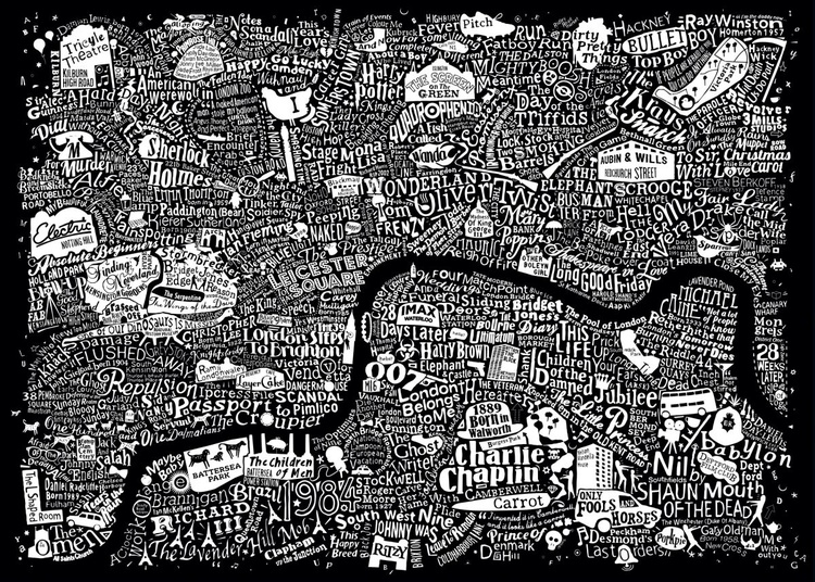 LONDON FILM MAP (Large black) - Image 0