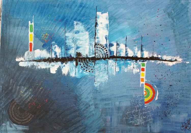 Blaue Stadt -