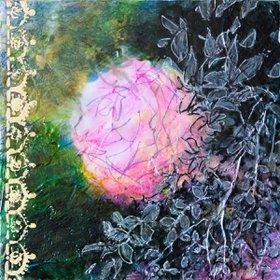 """""""Exploring the beauty - small size - deep edges canvas - 20X20 cm, 2016"""" by Fabienne Monestier"""