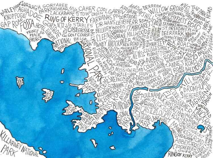 Killarney Word Map -