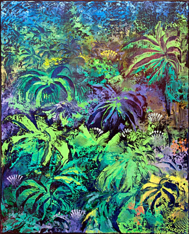 Night in the Rainforest 41x51 cm - Image 0