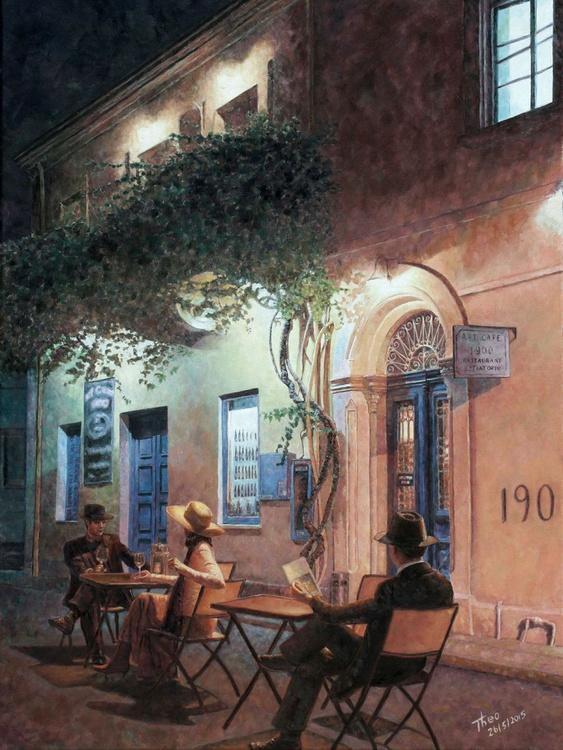 Cafe At Night - Image 0