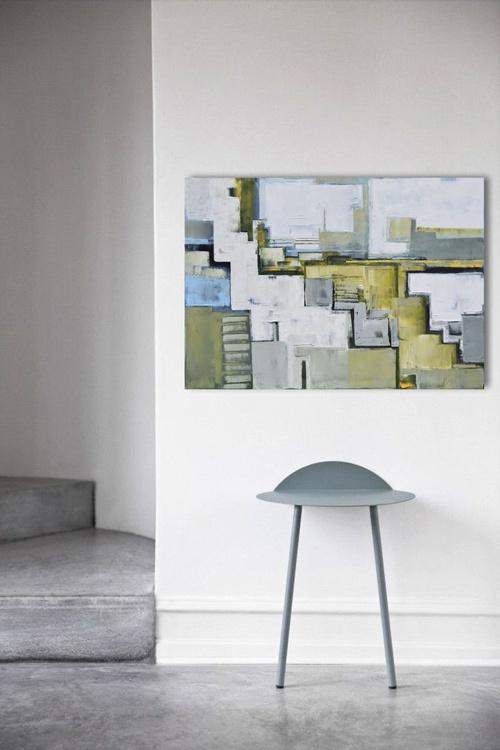 "Canvas art 39.37/27.5(100/70cm). ""Layer city 50"". - Image 0"