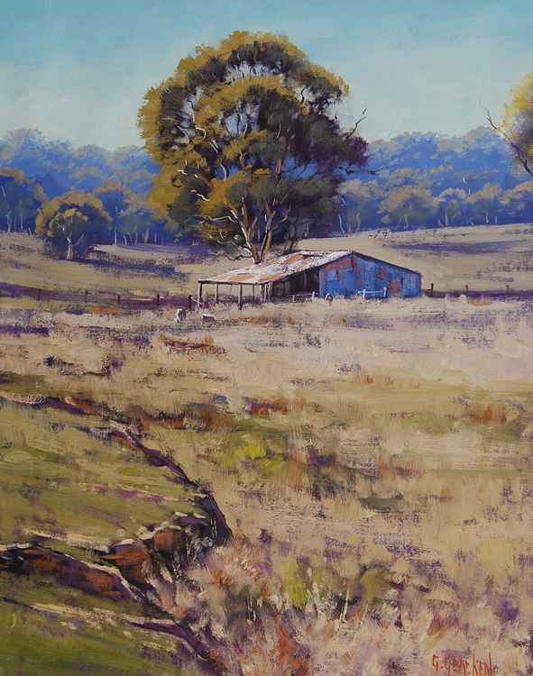 Summer landscape Pyramul, nsw