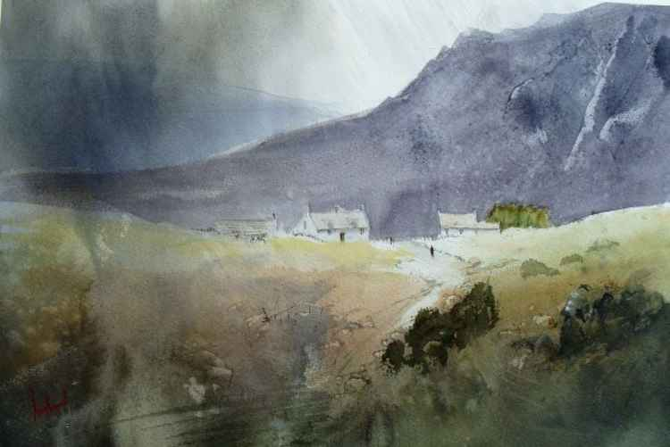 Rainy Day On The moors - Original Watercolour Painting