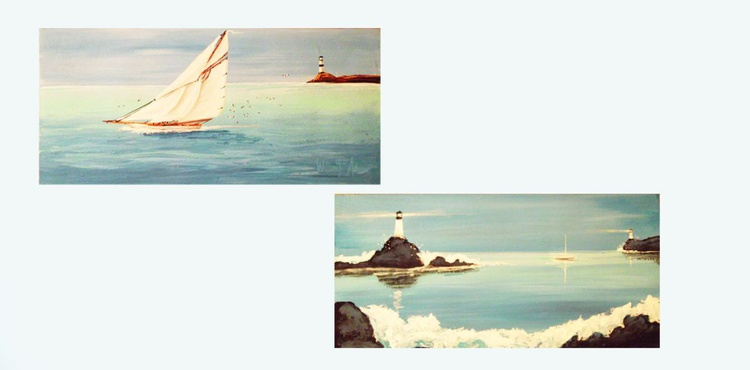 Sailboat and Lighthouse - Image 0