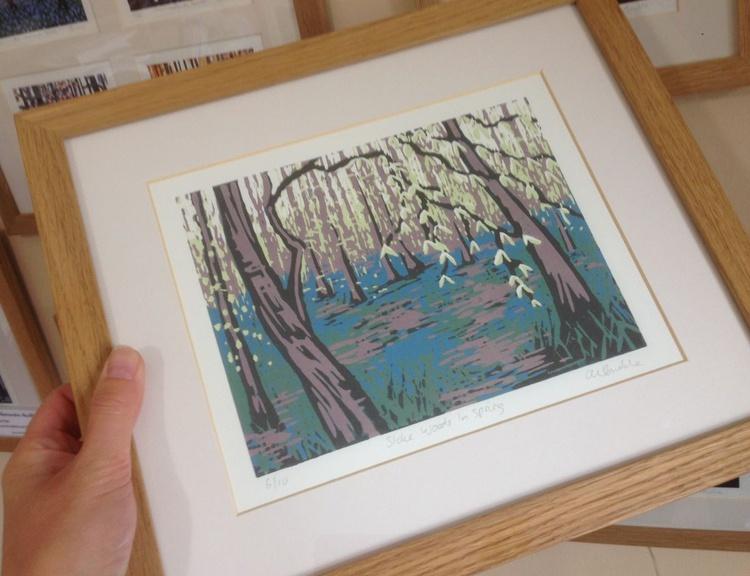 Stoke Woods in Spring, framed - Image 0
