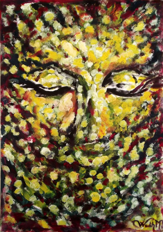 THE GODESS - Foliar Portray- extracting shapes and from Lebanese nature - 29.5x42 cm - Image 0