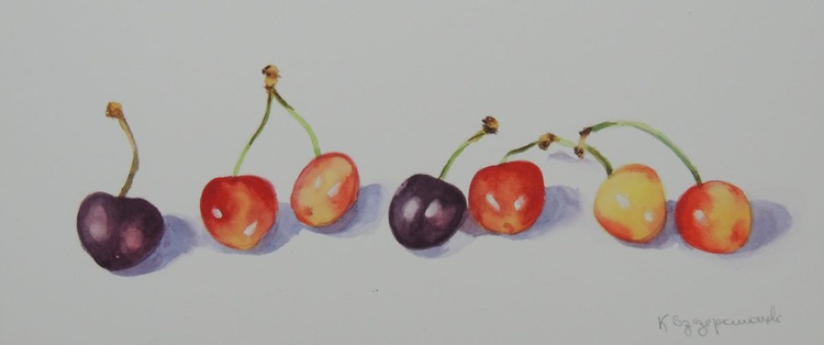 Cherries in a line - Image 0