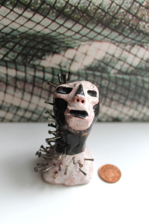 One of a kind Clay Healing Head - Image 0