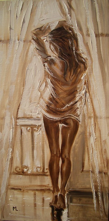 """"""" YOUR SHIRT ... """" - original oil painting on canvas, palette knife - Image 0"""
