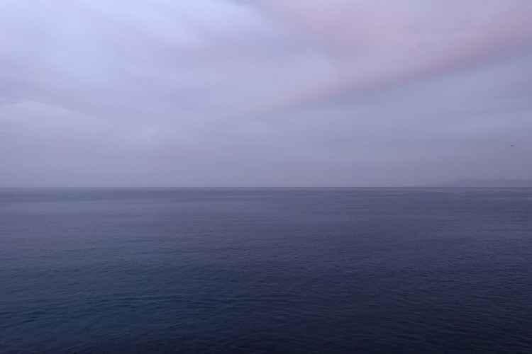 purple sea and sky