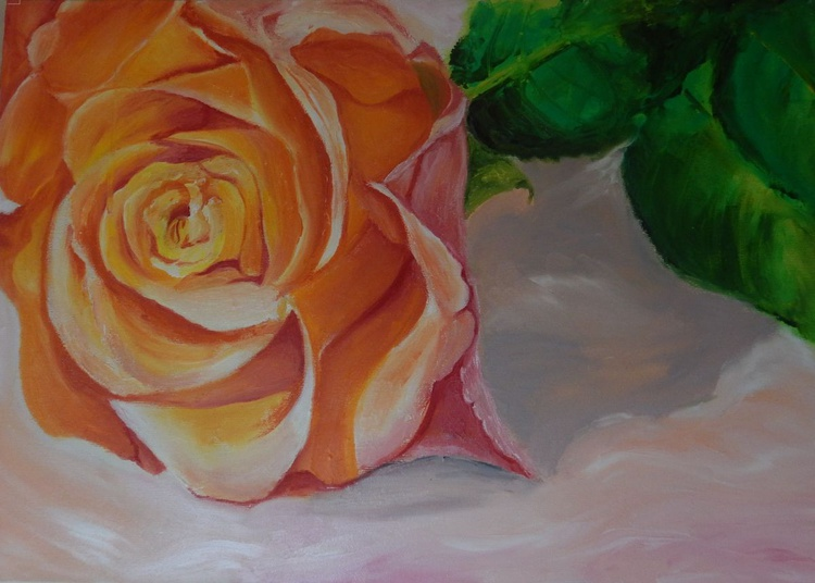 """"""" Just say I love you""""-original oil painting rose wall art home decor office decor ready to hang gift idea - Image 0"""