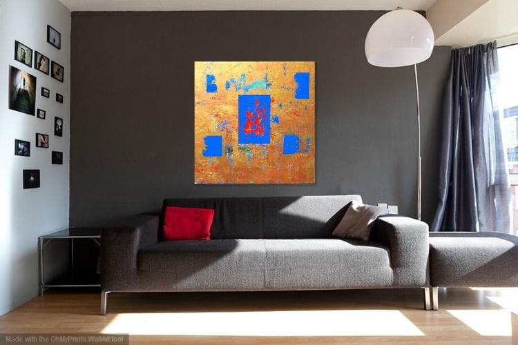 Golden Blue Panel - Image 0