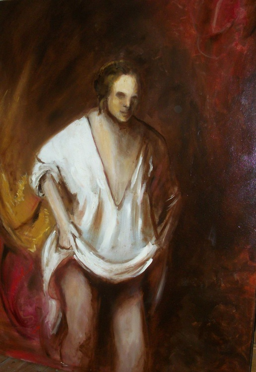 Rembrandt's Lady Friend (Oil on Canvas 30x40 inch) - Image 0