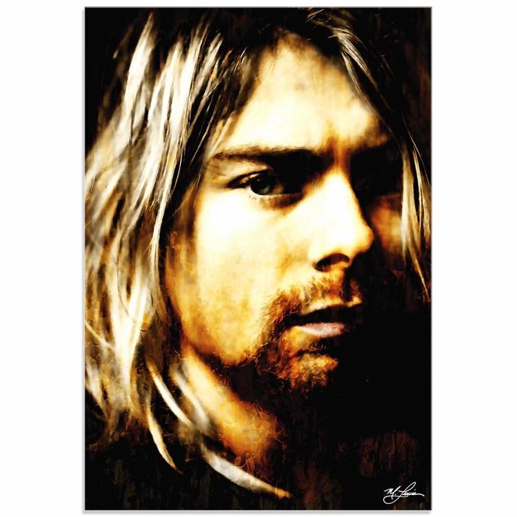 Mark Lewis 'Kurt Cobain As Darkness Fell' Limited Edition Pop Art Print on Acrylic - Image 0