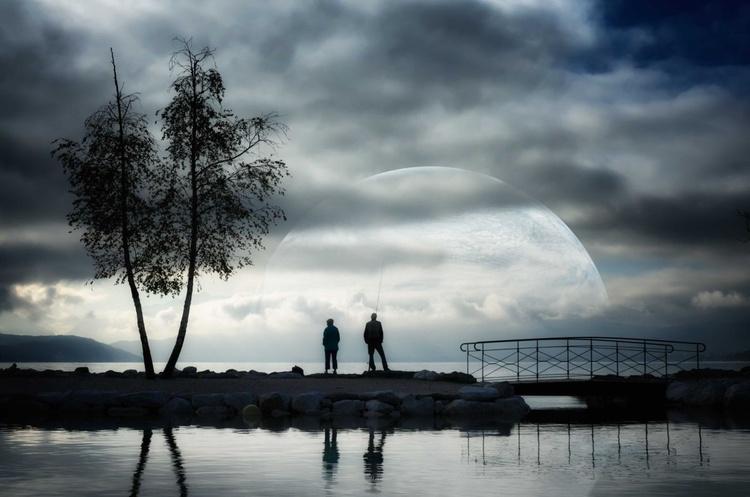 The lake (60 x 90 cm) - Image 0